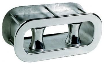 Loça, paslanmaz çelik,flanşlı ve makaralı İç ebat 270x91, dış ebat 340x160mm.