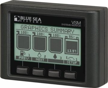 Blue Sea Systems VSM 422 sistem göstergesi. 4 Gösterge bir arada.