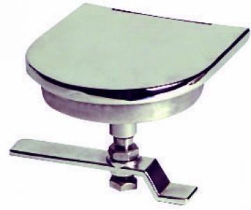 Gömme kulp, paslanmaz çelik. Büyük kapaklar için ideal. 100x115 mm.