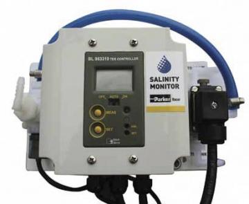 Racor Village Marine LTM Serisi Modüler Su Yapıcı için opsiyonel tuzluluk seviye göstergesi ve su kalite güvencesini sağlamak için yönlendirm