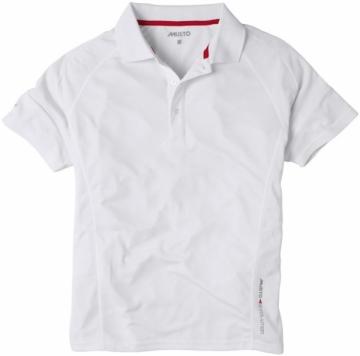 Evolution Yarış Polo Tişört. %100 Polyester. Beyaz.