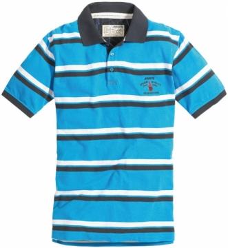 Musto Stripe Polo Tişört. %100 Pamuk. Mavi-Beyaz-Lacivert.