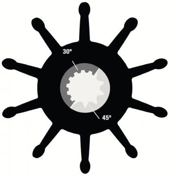 Sherwood Impeller 30000K Genişlik: 110 mm - Ø: 114 mm - 45° 10 Dişli