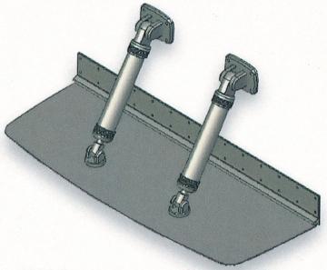 Bennett 30 Mil Üstü Sürat Tekneleri için Flap 31 x 41 cm Çift Pistonlu Komple