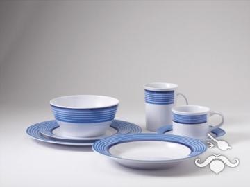 Trendline mavi, 20 parça melamin yemek takımı