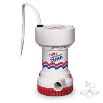 Rule® Sintine pompası 53S Otomatik Pompa 2000 GPH 12V 7570 Lt/saat