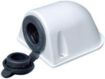 Çakmak tipi priz. Sıva üstü montaj için tasarlanmıştır.