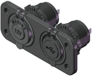 Şarj ve USB Soketi Şarj 12 Volt - USB 12-24 Volt