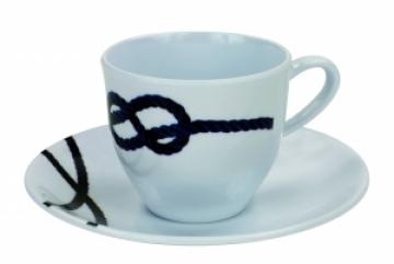 Topoplastic Pacific serisi melamin kahve fincanı ve tabağı